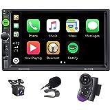 X-REAKO radio de coche 2 DIN Car Stereo de 7 Pulgadas HD Pantalla Táctil Bluetooth Manos Libres Radio Auto FM / USB/AUX IN Mi