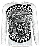 Sure Clothing Herren Longsleeve T-Shirt Das Allsehende Auge Größe M L XL Illuminati Pyramide NWO Club PSY Progressive (Weiß XL)