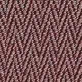 Fabulous Fabrics Strickstoff Cardigan Ethno Chevron – Bordeauxrot/Schlamm — Meterware ab 0,5m — zum Nähen von Jacken, Mänteln und Pullovern