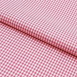 Hans-Textil-Shop Stoff Meterware, Vichy Karo 2x2 mm, Rosa,