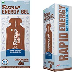 Fast&Up Vegan Sports Energy Gel - 30 g (Chocolate, Pack of 5)