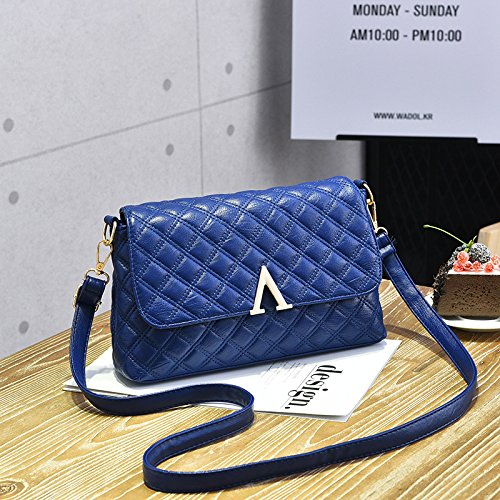 Femmina LiZhen nuovi pack di trasporto atmosferico selvatici coreano moderno piccolo pacchetto pelle morbida tote bag spalla un cross-pacchetto, royal blue Royalblue