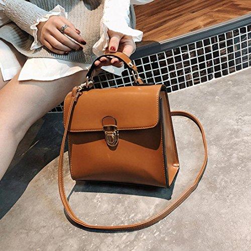 Damen Handtaschen, Huhu833 Frauen Messenger Bags Fashion Schultertaschen Handtasche Kleine Körper Taschen Braun