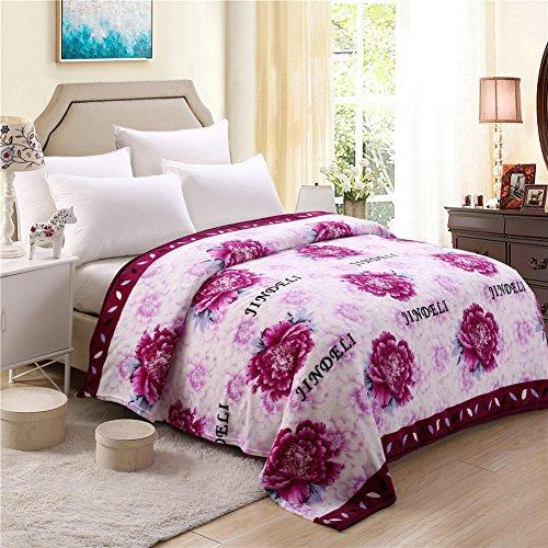 zhiyuan weiche warme Plüsch Fleece Bettdecke Reisedecke, 180 x 200 - ärmel Werfen Decke
