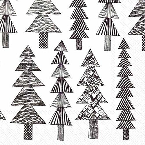 marimekko-finlandese-designer-kuusikossa-nero-bianco-abete-pino-alberi-di-natale-tradizionale-carta-