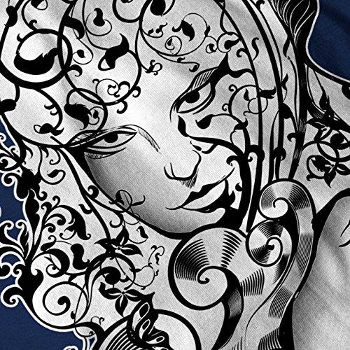 Gesicht Modisch Drucken Mode Natur Gesicht Damen S-2XL Muskelshirt | Wellcoda Marine
