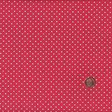 100% Baumwolle Stoff | Rot und Weiß | Kleine Punkte | Stoffbreite: 140cm (0,5 m)