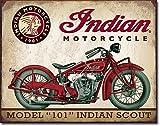 Indian Model 101 Indian Scout blechschild (de)