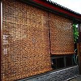 LUWEIL1AN Naturale Cortina di bambù Tenda a Rullo Protezione Ambientale Naturale Protezione Solare Tende a Pacchetto, Ufficio Salotto Tende Decorative, Fatto su Misura(Size : 110x225cm),22 Dimensioni