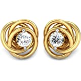 Candere By Kalyan Jewellers Yellow Gold Stud Earrings for Women