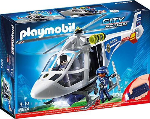 Preisvergleich Produktbild Playmobil 6874 - Polizei-Helikopter mit LED-Suchscheinwerfer