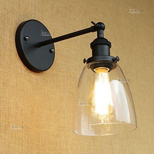 Modeen Simple moderne réglable angle verre lampe mur lampe Designer chevet lampe fer enfant lecture mur lumière chambre bureau venture bar grange entrepôt applique murale éclairage