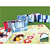 SONGMICS XXL 200x 200cm camping picnic blanket, insulated, waterproof, with carrying handle GCM71J