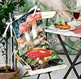 "Hoff Interieur 2er Set Stuhlkissen ""FLIEGENPILZ"" aus Polyester 40 x 40cm"