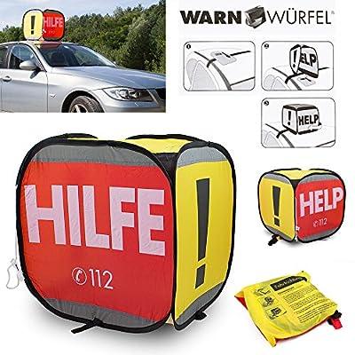 KFZ Auto Warndreieck Warnschild Warnwürfel PKW Pannenset Pannenhilfe Autopanne WELTNEUHEIT, Perfekt für Notfälle und Pannensituationen