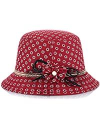 TININNA Estivo Moda Donna Floreale Anti UV Bordo Largo Cappello da Sole da  Viaggio da Spiaggia e006743030fc