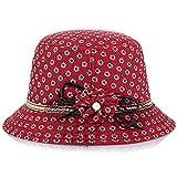 Amorar Mode Wide Brim Stroh handgemachte Sonnenhut, Floral Tuch Shade Hut UV Schutz Strand Hut Sonnenblende Medium Krempe Hut für Frauen