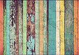 Colored Wooden Wall Vlies Fototapete 8-teilig Tapete 366x254cm Bildtapete