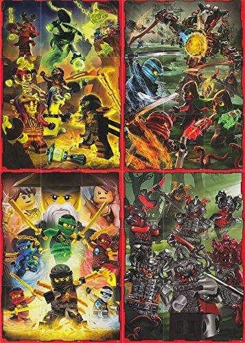 LEGO Ninjago 2 (Serie 2) - Puzzelkarten-Set komplett 36 Karten - Deutsche Ausgabe (Karte Puzzle)