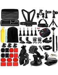 Iextreme 48-in-1 Accessoire pour Gopro, Kit d'accessoires pour Gopro Hero 5/4 /3/SJ4000/5000/6000, AKASO/EK7000/DBPOWER/EX5000/Lightdow LD4000 Sjcam and Xiaomi Yi