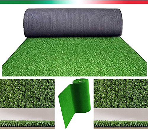 Prato sintetico 7mm manto erboso finta erba giardino tappeto 14 MISURE DISPONIBILI (2X7,5 METRI)