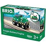BRIO 33214 Batteridrivet godslok | Freight Battery Engine 1 del Leksakståg. För barn från 3 år. För tågälskare.