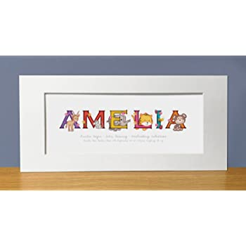Personalised 1st Birthday Name Frame, Childs Bedroom Gift Ideas ...