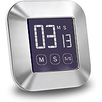 E More  timer da cucina digitale touch screen  orologio magnetico conto alla rovescia grande schermo LCD allarme forte