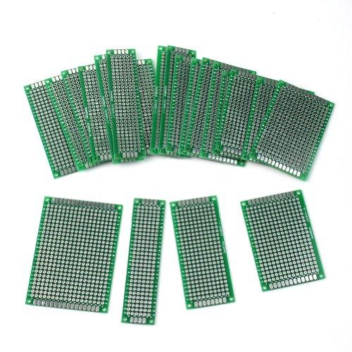 20x Lochrasterplatte Leiterplatte Streifenraster Platine Panel Experimentier PCB