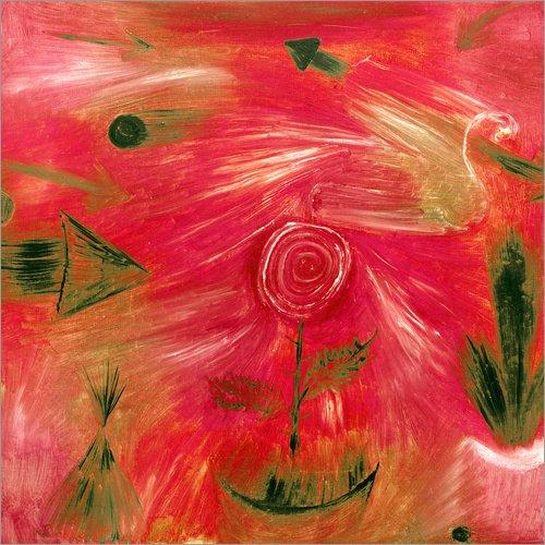 Posterlounge Holzbild 90 x 90 cm: Rosenwind von Paul Klee/akg-Images