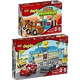 LEGO DUPLO Disney Cars 2er Set 10856 10857 Hooks Schuppen + Piston-Cup-Rennen