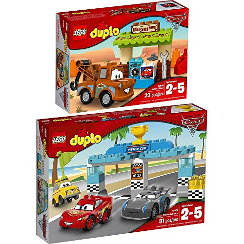 LEGO DUPLO Disney Cars 2er Set 10856 10857 Hooks Schuppen + Piston-Cup-Rennen (Lego-sets Disney Cars)