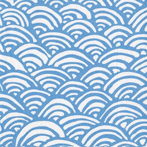 Caspari Cocktail-Servietten dreilagig, Lulu's Rainbow-Blue, 20 Stück, 25 x 25 cm Caspari Cocktail-servietten