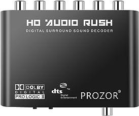 Digital zu Analog 5.1 Audio Sound Decoder Wandler/Konverter SPDIF RCA Dolby AC3/DTS Optisch Koaxial Eingang – Unterstützt HDTV DVD Player Blue Rey DVD DVD SP3 Xbox 360