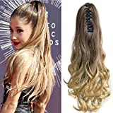 Neverland 20 (50cm) Ombre Two Tone longue Big ondules Griffe Curly Ponytail clip en extensions de cheveux 8#/25#