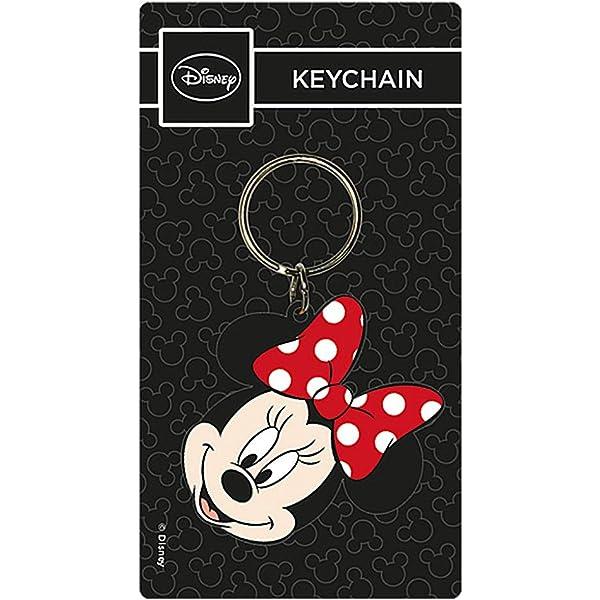 Genuine Disney Classic Mickey Mouse Head Rubber Keyring Key Fob