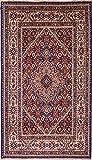 Morgenland Teppiche 130 x 74 cm Orientteppich Rot Handgeknüpft Gemustert