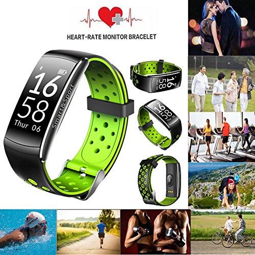 Smart Watch Wasserdicht Ip68 Schwimmen,Aktivitätstracker Mit Pulsmesser Bluetooth Sportuhr Silikon Ständer,Uhr Fitness Tracker Armband Smart Bracelet Wristband Mit Herzfrequenz Damen Herren