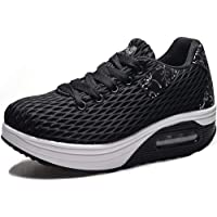 Women's Lightweight Sneakers,Ladies Casual Comfortable Walking Shoes Platform Wedges Breathable Trainers Running Shoes