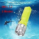Kingko® Tauchlampe 3 Modi Tauch Tauchen XM-L L2 LED Tauchen Taschenlampe 18650