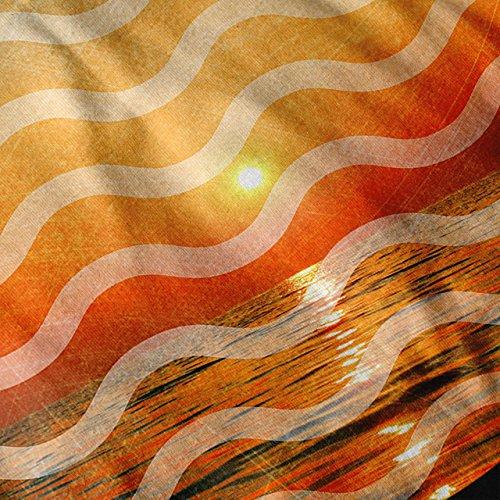 Sonne Urlaub Sommer Vibes Sonnenuntergang Strand Damen Schwarz S-2XL Muskelshirt | Wellcoda Schwarz