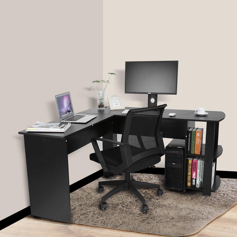 Scrivania Ad Angolo Per Computer.Il Lavoro L Ufficio Scrivania Da Computer Da Ufficio Di Legno