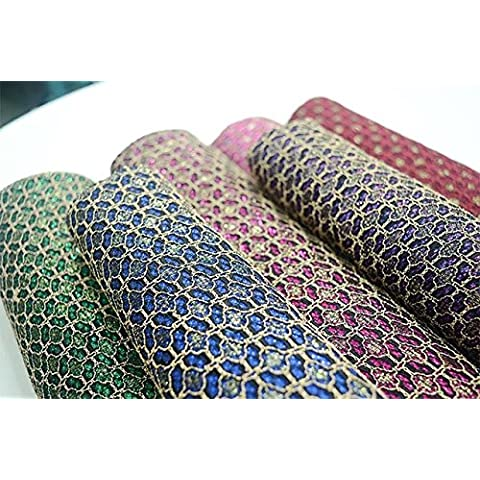 Filo d'oro nuova di alta qualità stereoscopico pizzo tessuti spessi tessuti di pizzo per High-end (Dobby Pizzo)
