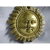 Shubh Sanket Vastu Brass Sun Figurine (Gold, 6 inches)