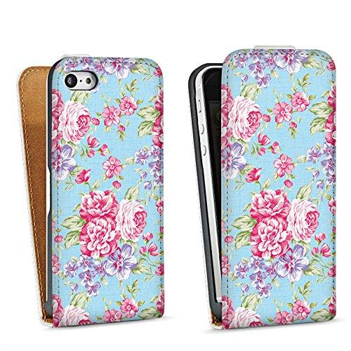 Apple iPhone 5 Housse Outdoor Étui militaire Coque Rétro Printemps Fleur Sac Downflip blanc
