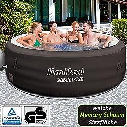 Bestway Lay-Z-Spa Limited Whirpool, mit Filterpumpe, beheizter Pool Outdoor, Ø 196 cm
