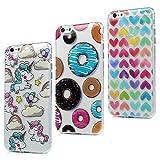 57671b3e2a6 3x Funda iPhone 6S Plus, iPhone 6 Plus Carcasa Silicona Gel Case Ultra  Delgado TPU