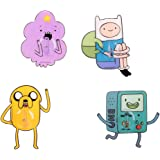 MINISO Adventure Time Door Wall Sticker Hooks for Home Kitchen Bathroom, 4 Pack, Multi Colors