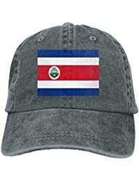 longkouishilong Flag of Costa Rica Unisex Adult Denim Dad Baseball Hat Sports Outdoor Cowboy Cap For