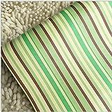 YUELA Wandhalterung Wood-Grain Self-Stick Tapete der Nordischen Möbeln renoviert Studentenwohnheim mit PVC-dekorative Tapete, Selbstklebend, 10 M, Grün Streifen 5002 45 Cm Breit,